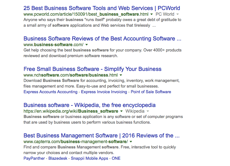 Business Software Search