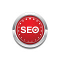 SEO Red Vector Icon Button