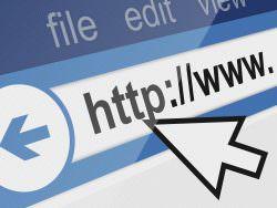 Arrow on url on web page