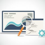 Website SEO (search engine optimization) analysis and process flat vector