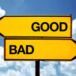 Good or bad, opposite signs