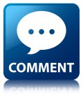 Comment (conversation icon) blue square button