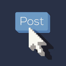 Post Button with Arrow Shaped Cursor