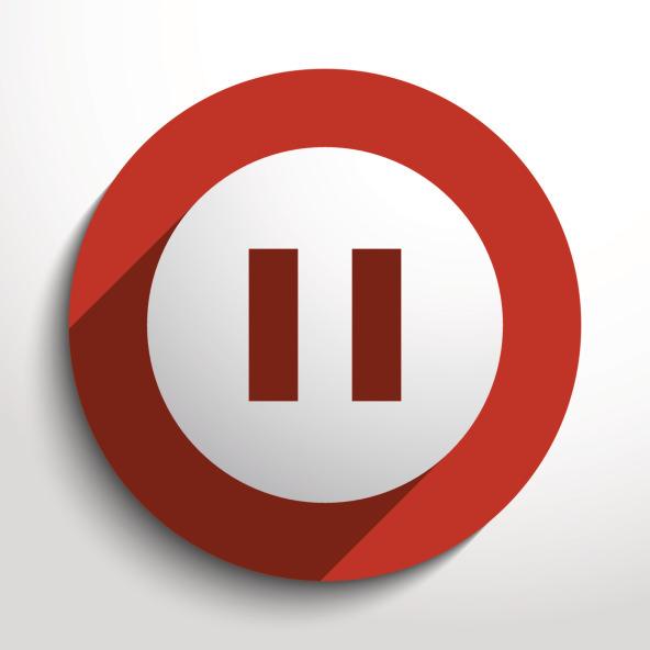 Vector pause web icon