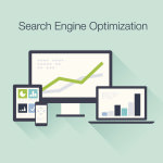 Search Engine Optimization flat icon illustration SEO concept